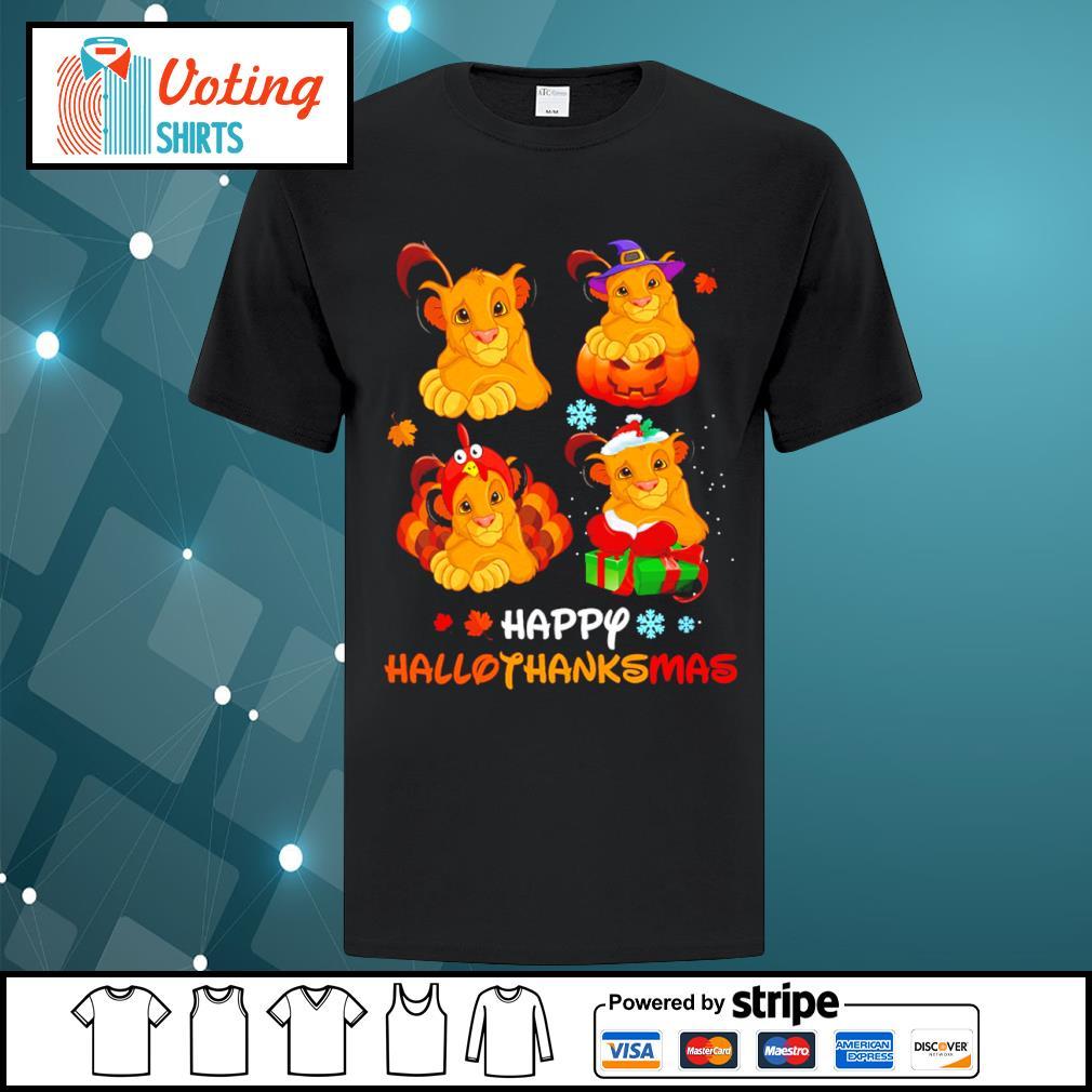 Lion King Simba happy HalloThanksMas shirt
