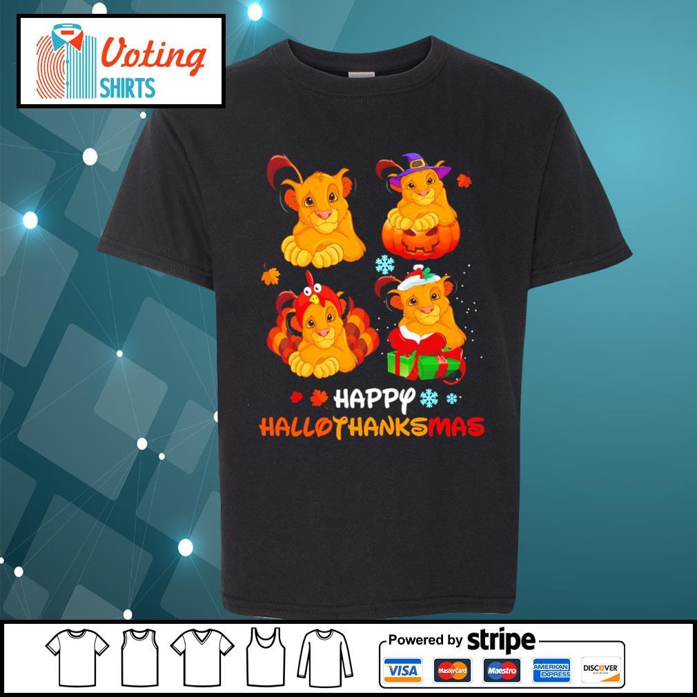 Lion King Simba happy HalloThanksMas s youth-tee