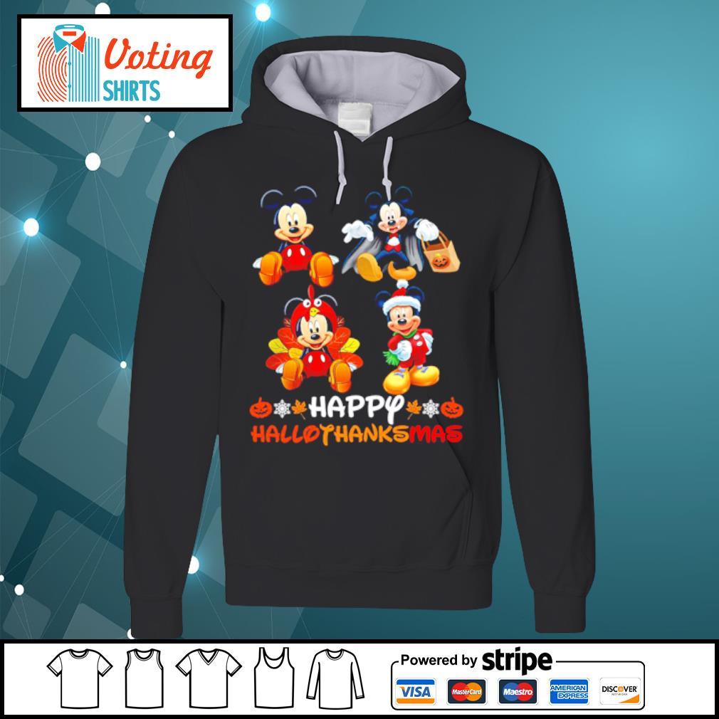 Mickey Mouse Dracula Turkey Santa Claus Happy Hallothanksmas s hoodie
