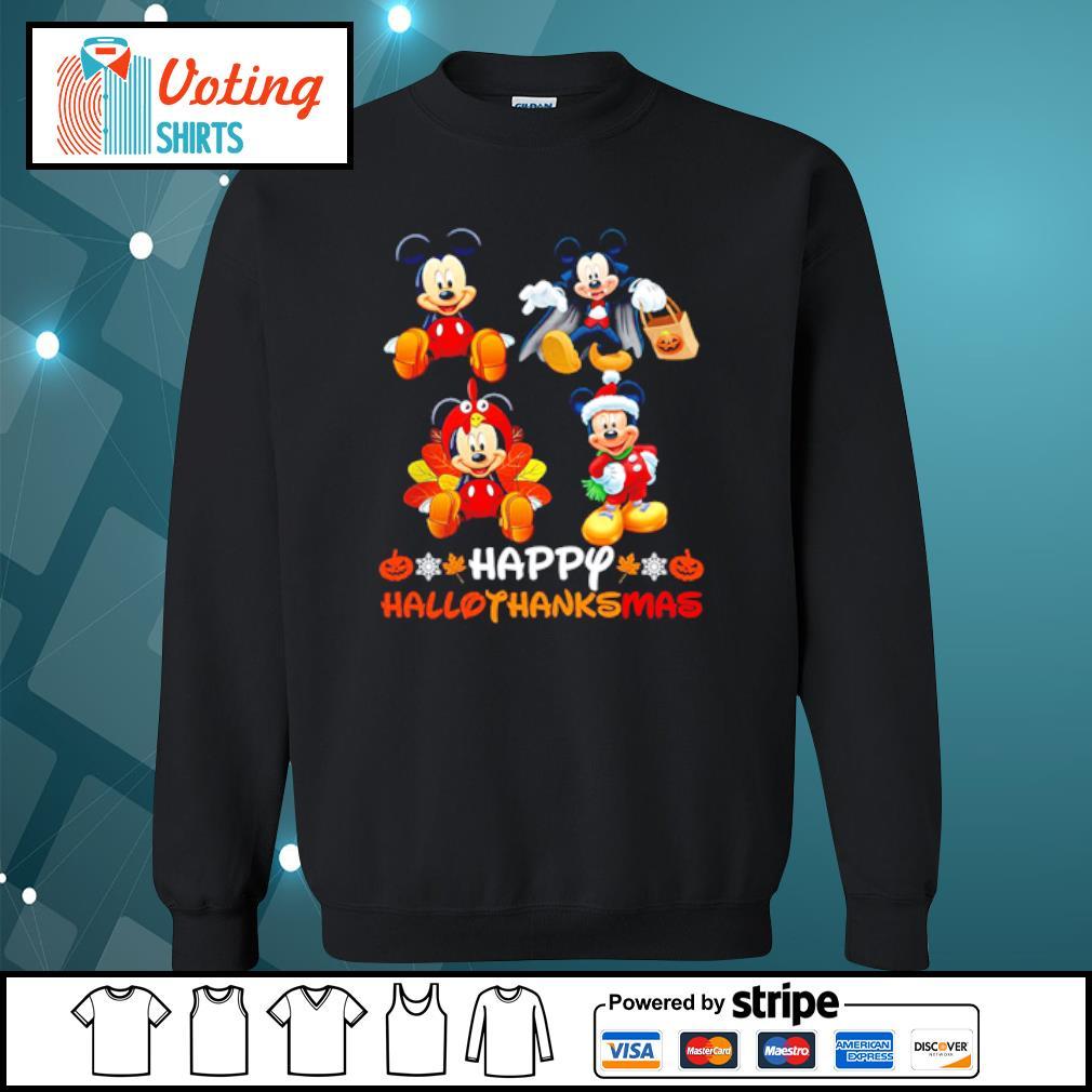 Mickey Mouse Dracula Turkey Santa Claus Happy Hallothanksmas s sweater