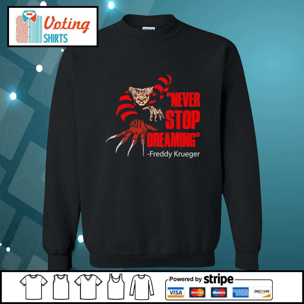 Never stop dreaming Freddy Krueger s sweater
