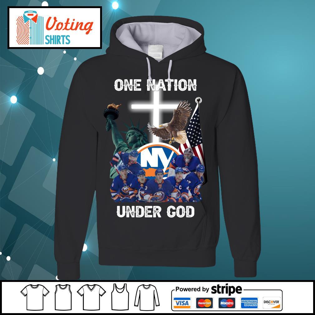 New York Islanders one nation under God s hoodie