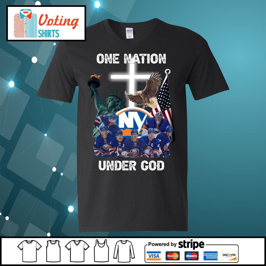 New York Islanders one nation under God s v-neck-t-shirt