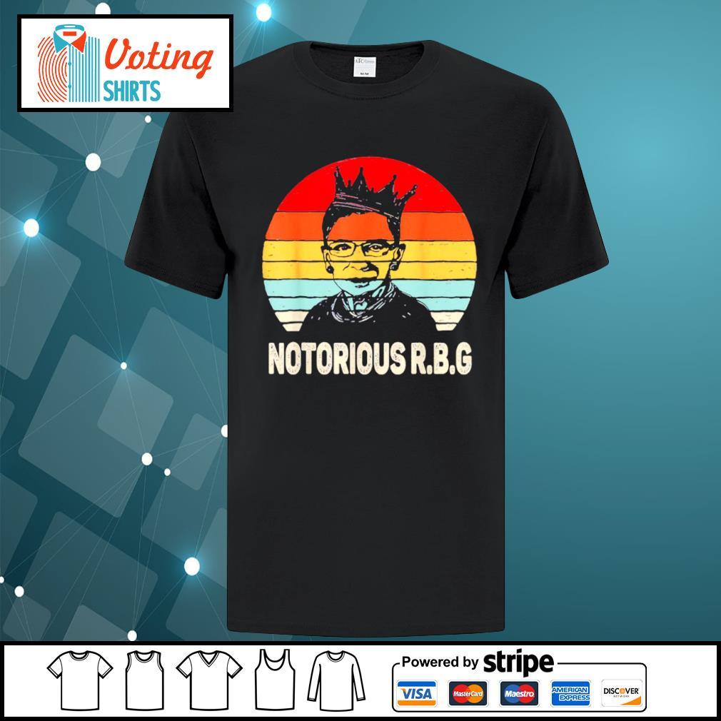 Notorious RBG Ruth Bader Ginsburg vintage shirt