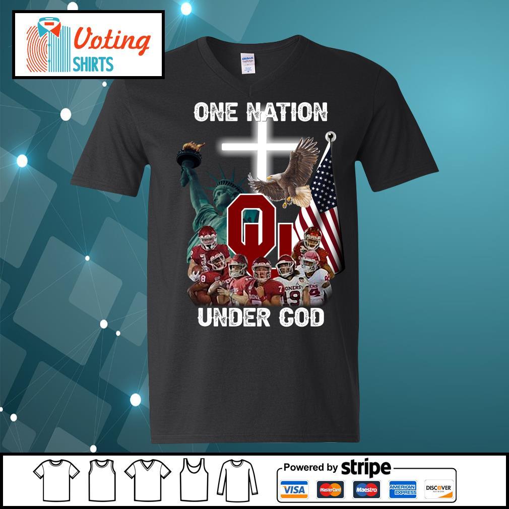 Oklahoma Sooners one nation under god s v-neck-t-shirt