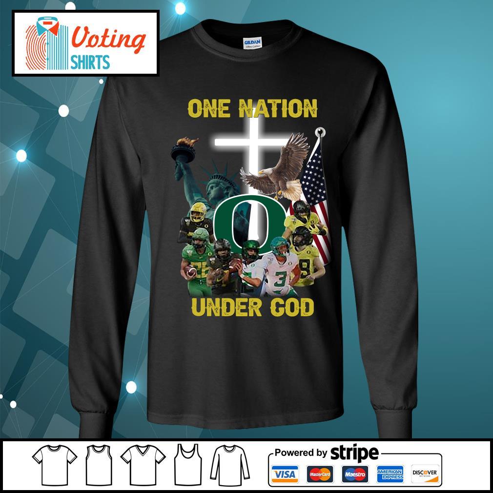 Oregon Ducks one nation under god s longsleeve-tee