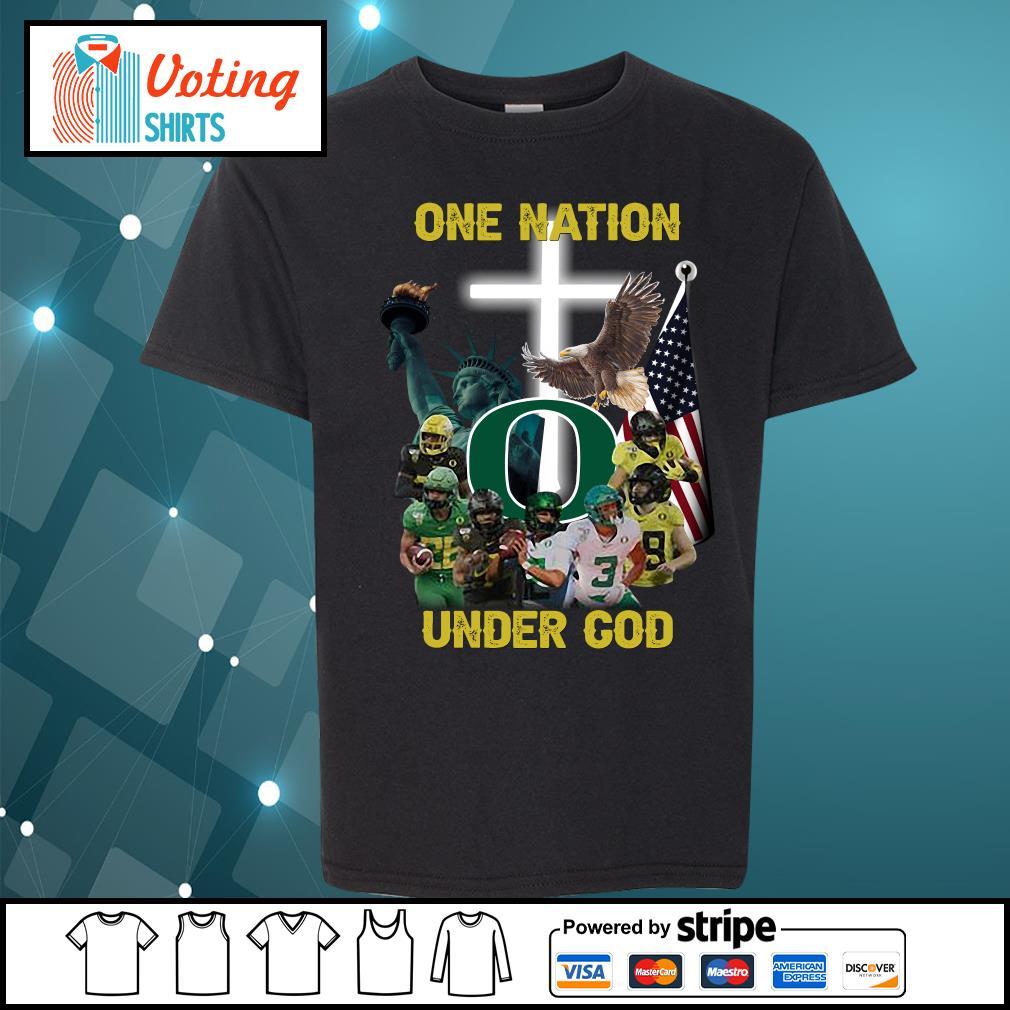 Oregon Ducks one nation under god s youth-tee