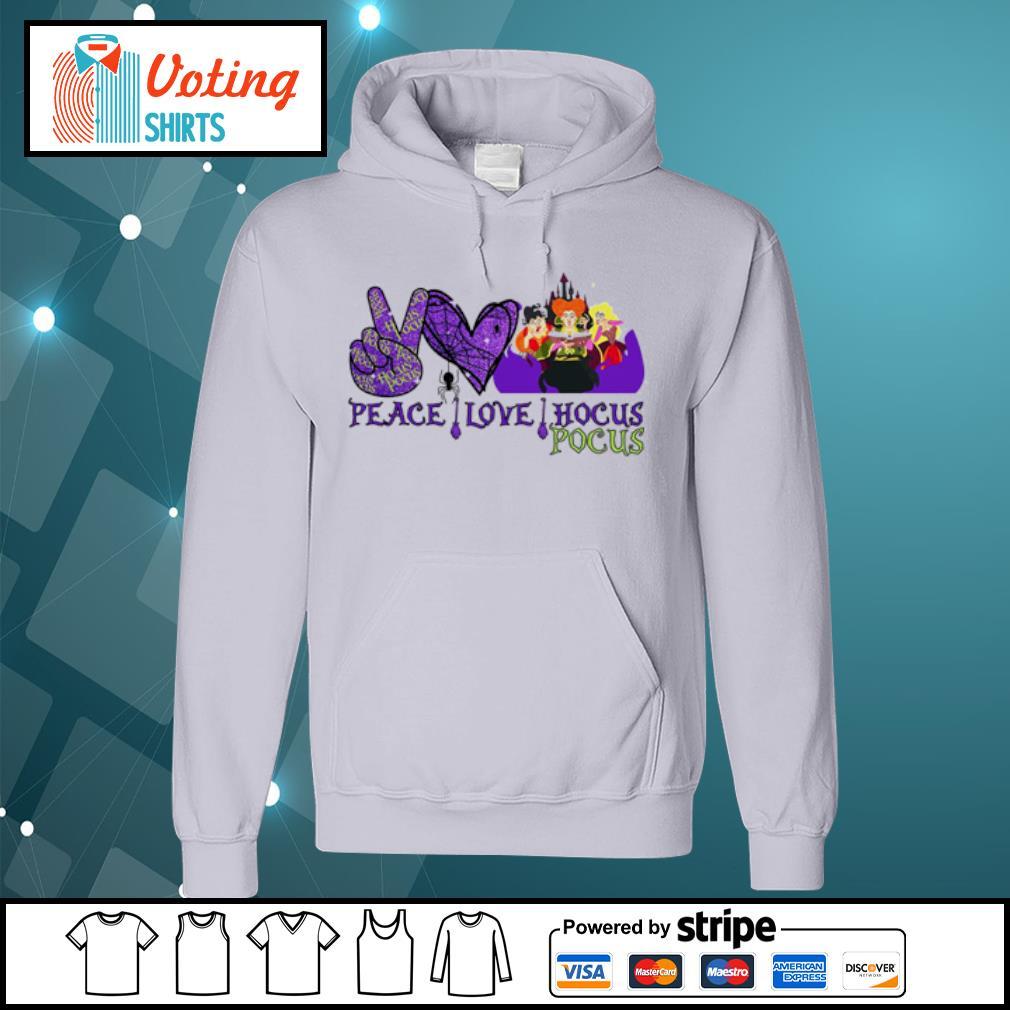 Peace love Hocus Pocus Sanderson Sisters s hoodie