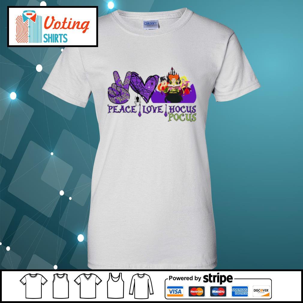 Peace love Hocus Pocus Sanderson Sisters s ladies-tee