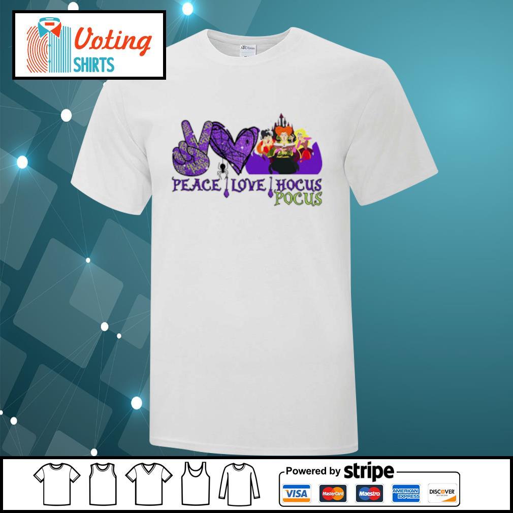 Peace love Hocus Pocus Sanderson Sisters shirt