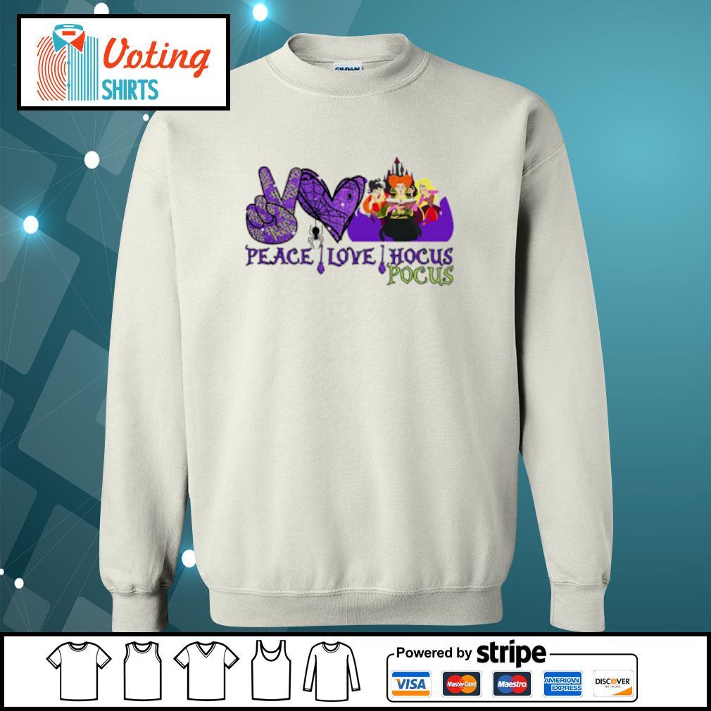 Peace love Hocus Pocus Sanderson Sisters s sweater