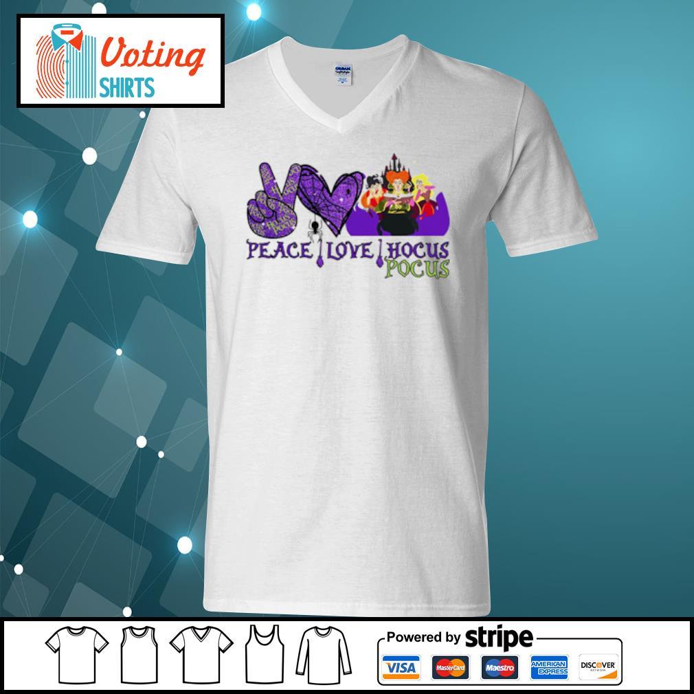 Peace love Hocus Pocus Sanderson Sisters s v-neck-t-shirt
