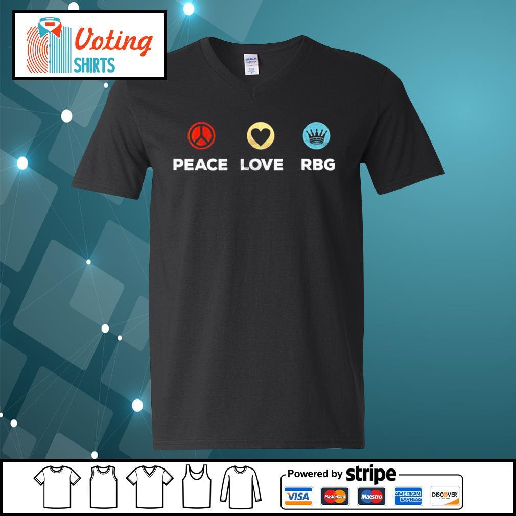 Peace love Ruth Bader Ginsburg RBG vintage s v-neck-t-shirt