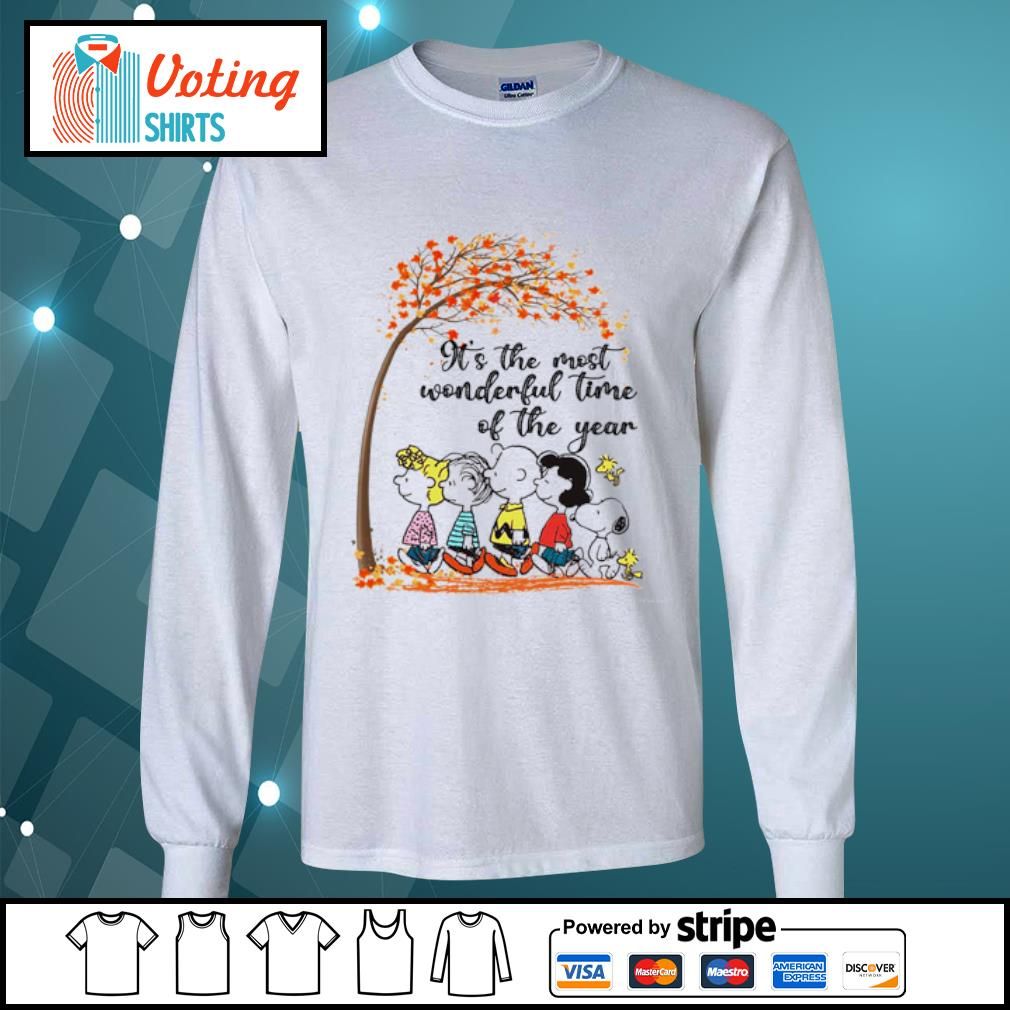 Peanuts It's the most wonderful time of the year s longsleeve-tee