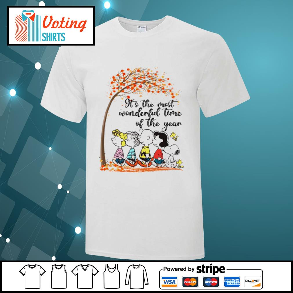 Peanuts It's the most wonderful time of the year shirt