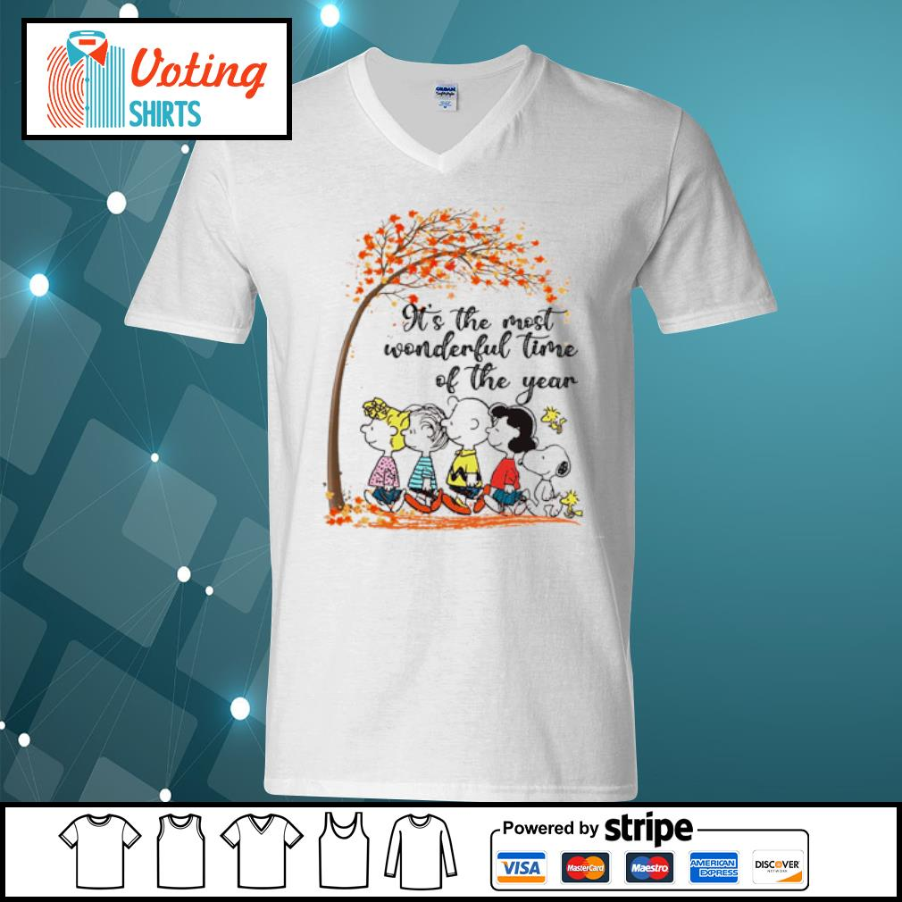 Peanuts It's the most wonderful time of the year s v-neck-t-shirt