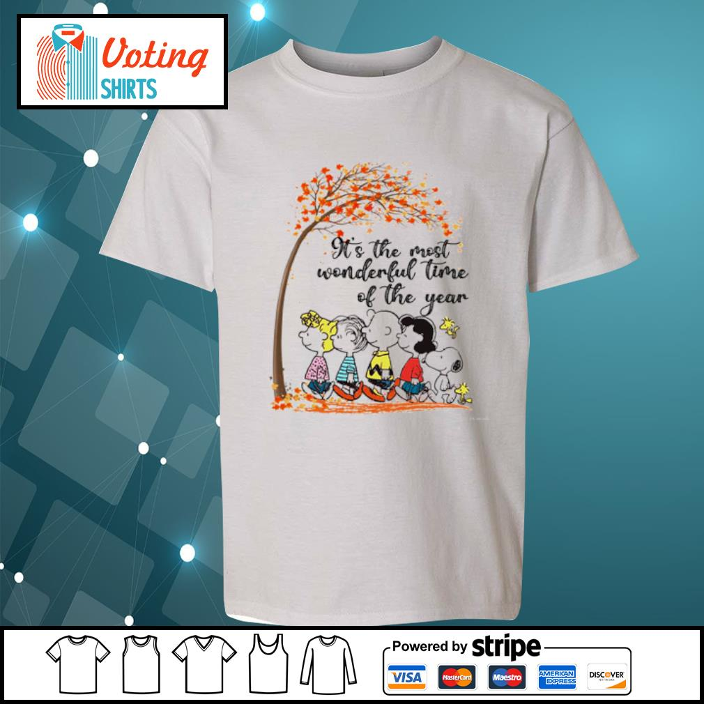 Peanuts It's the most wonderful time of the year s youth-tee