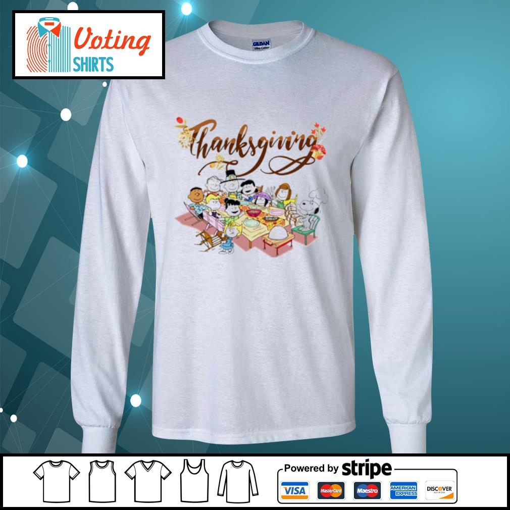 Peanuts Party Thanksgiving s longsleeve-tee