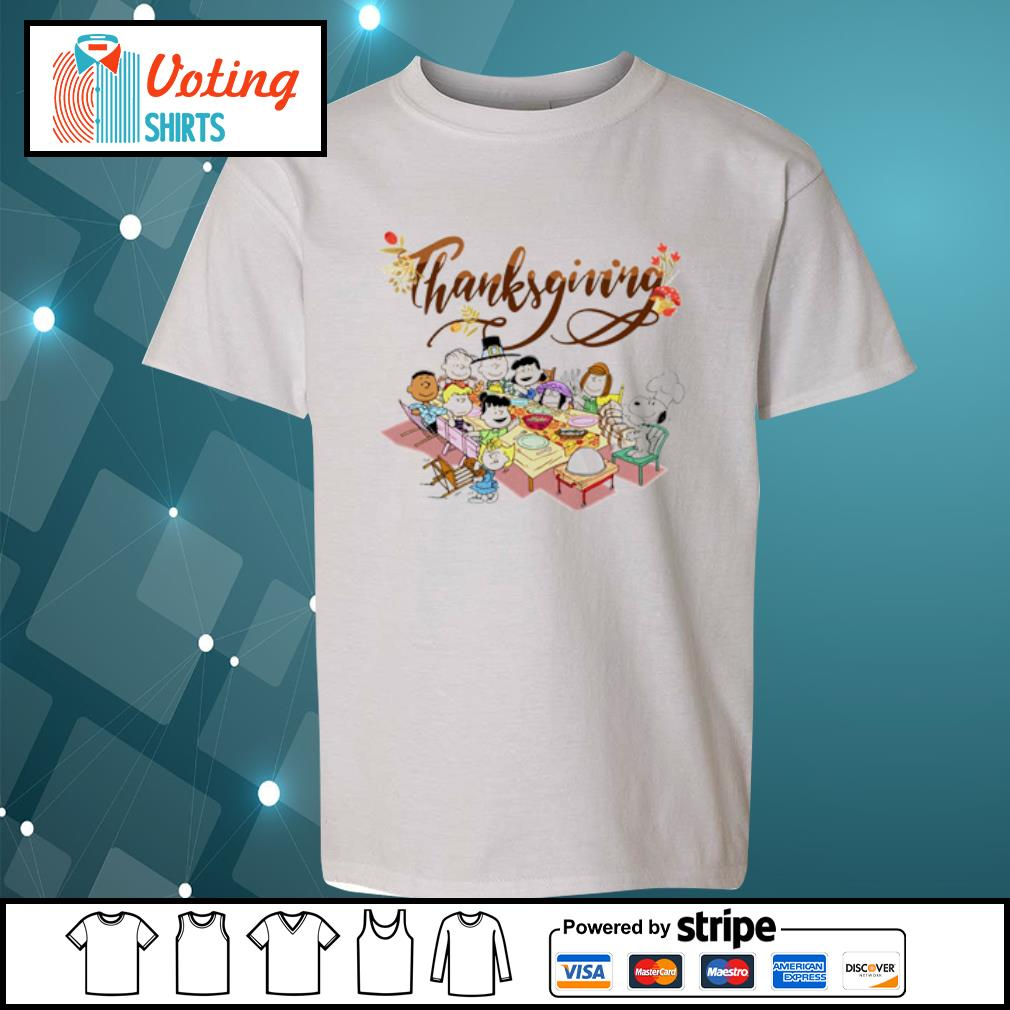 Peanuts Party Thanksgiving s youth-tee