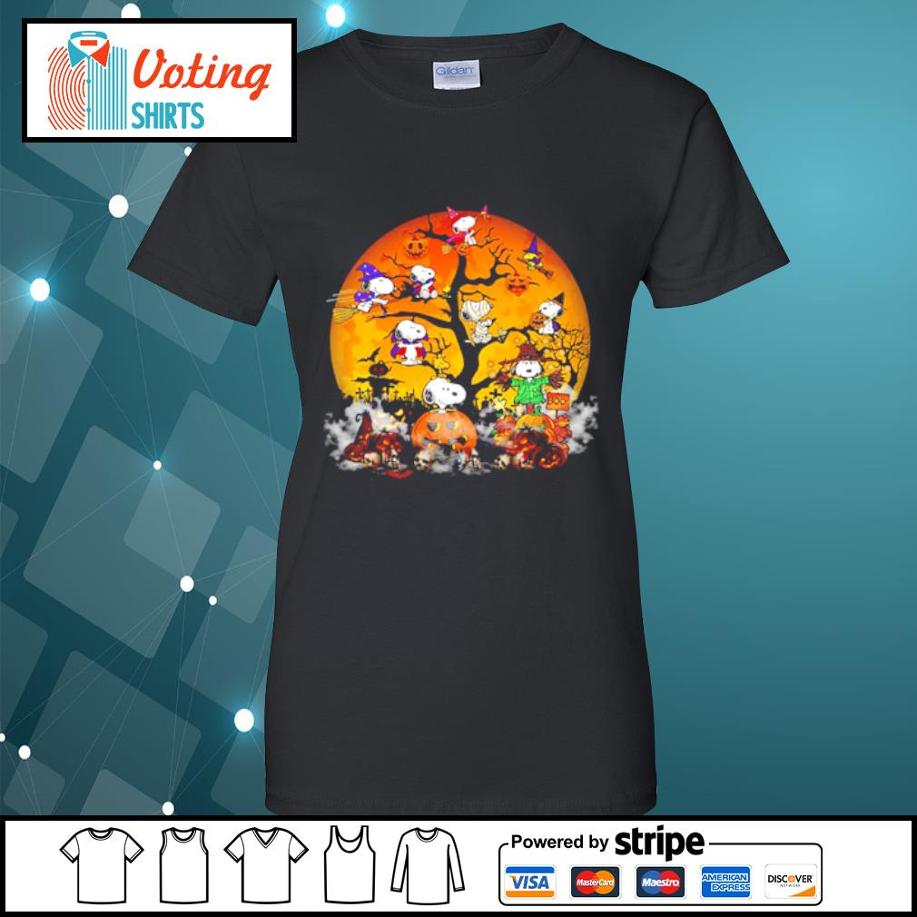 Peanuts Snoopy Halloween tree s ladies-tee
