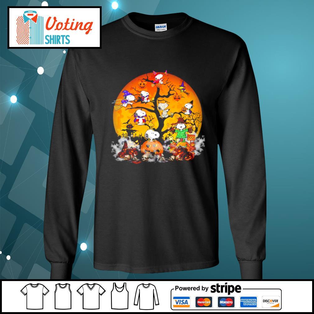 Peanuts Snoopy Halloween tree s longsleeve-tee