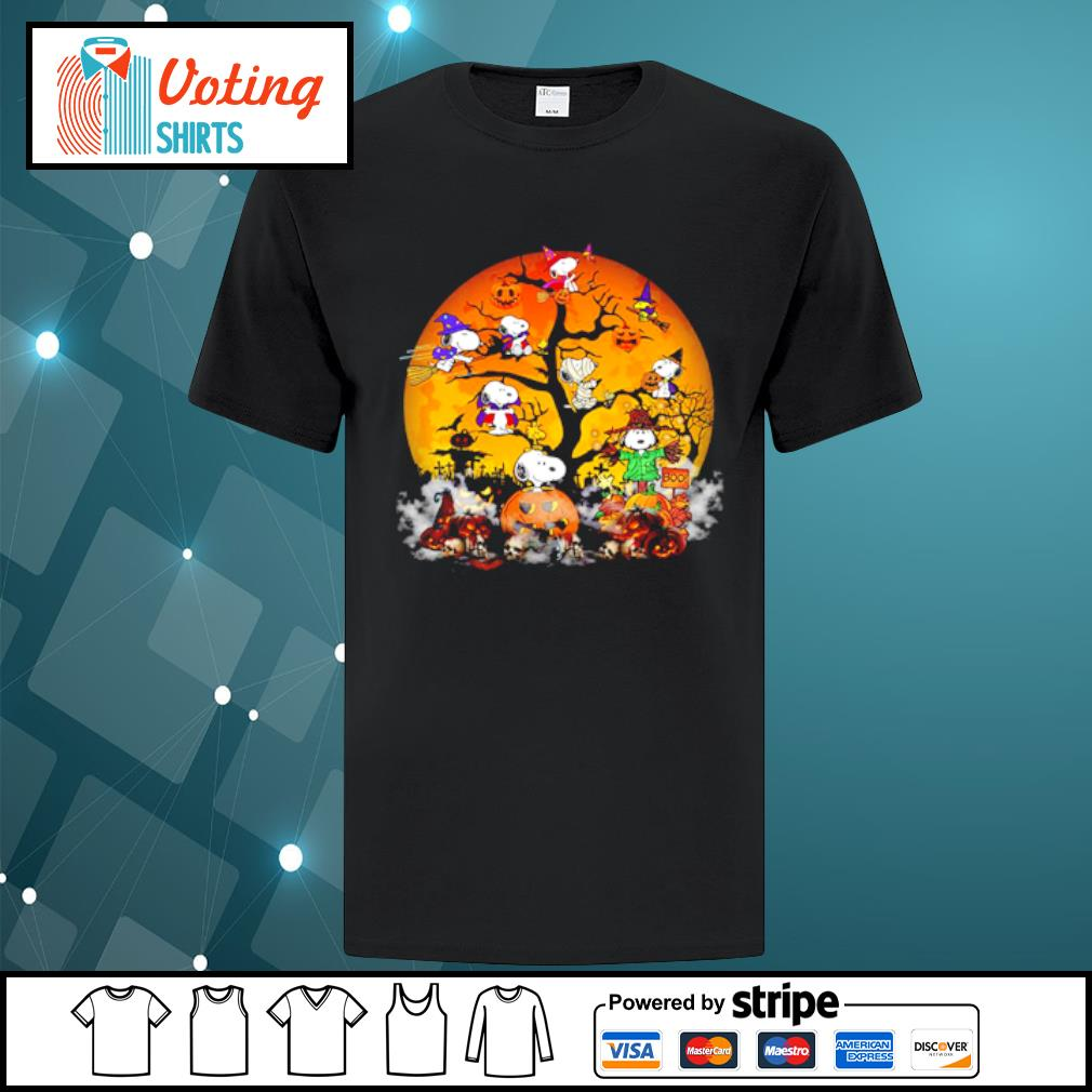 Peanuts Snoopy Halloween tree shirt