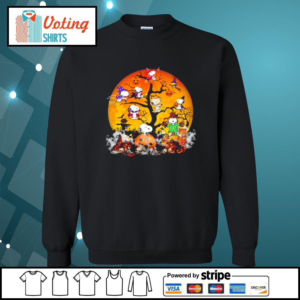 Peanuts Snoopy Halloween tree s sweater