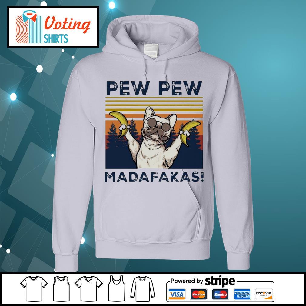 Pew Pew Madafakas Bull hund vintage s hoodie