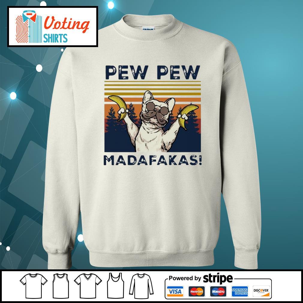 Pew Pew Madafakas Bull hund vintage s sweater