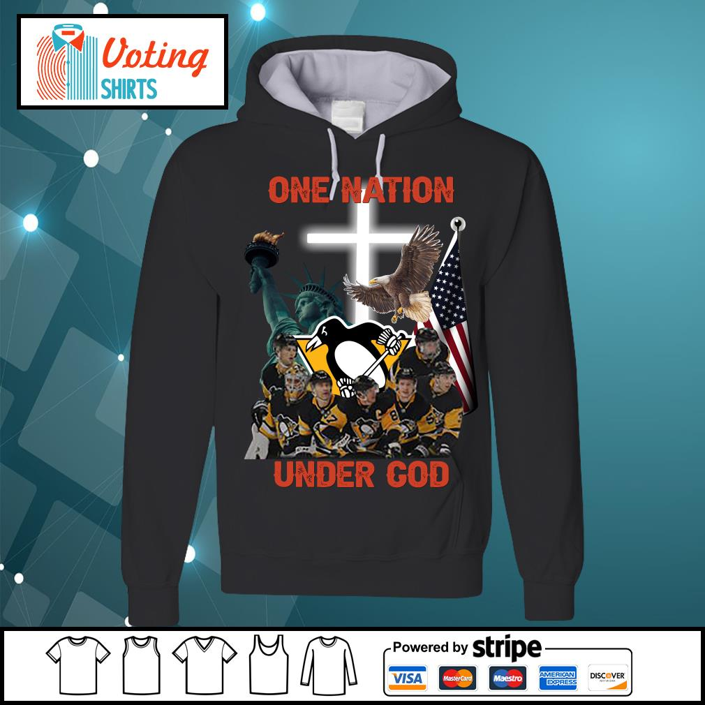 Pittsburgh Penguins one nation under god s hoodie