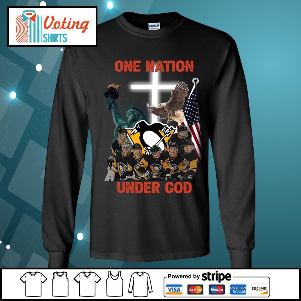 Pittsburgh Penguins one nation under god s longsleeve-tee