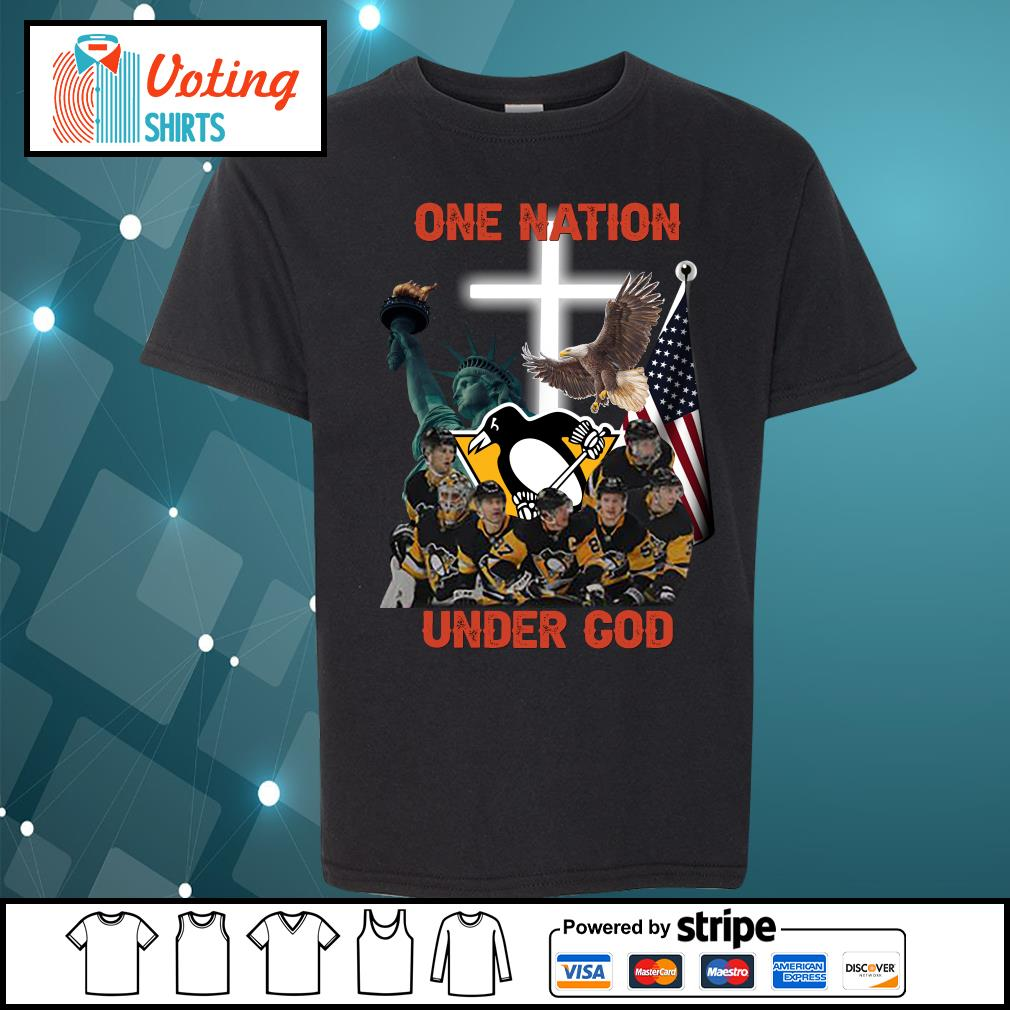 Pittsburgh Penguins one nation under god s youth-tee