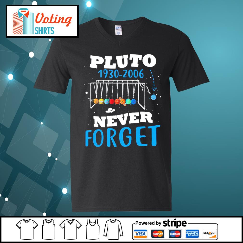 Pluto 1930 2006 never forget s v-neck-t-shirt