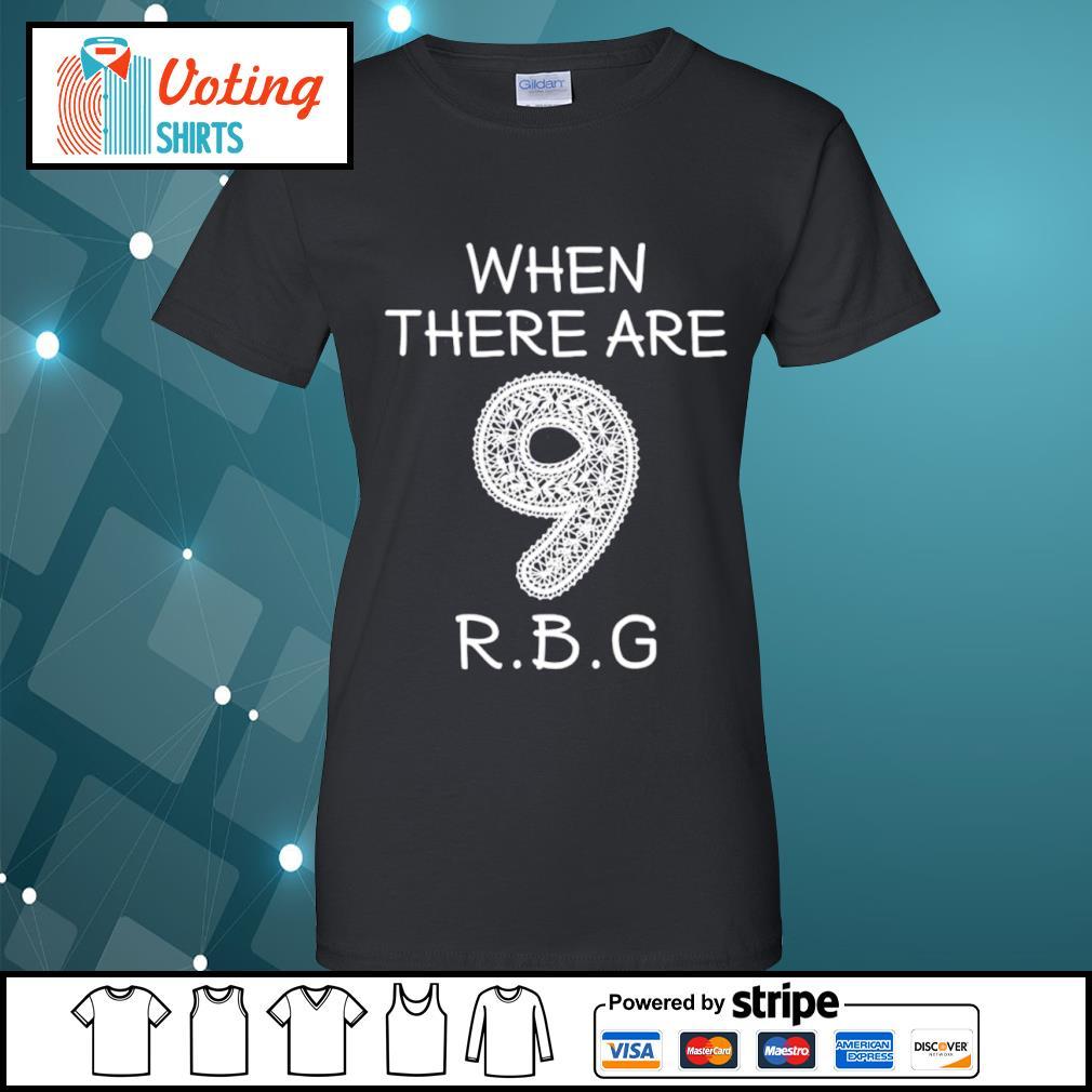 Ruth Bader Ginsburg 9 RBG s ladies-tee