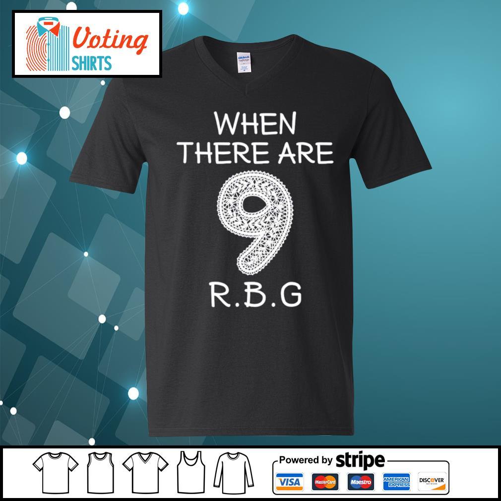 Ruth Bader Ginsburg 9 RBG s v-neck-t-shirt