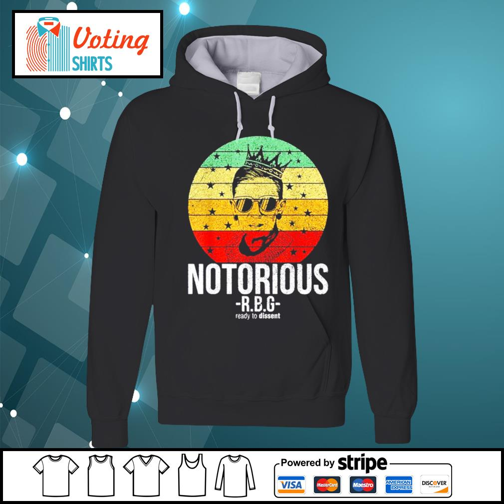 Ruth Bader Ginsburg notorious RBG ready to dissent vintage s hoodie