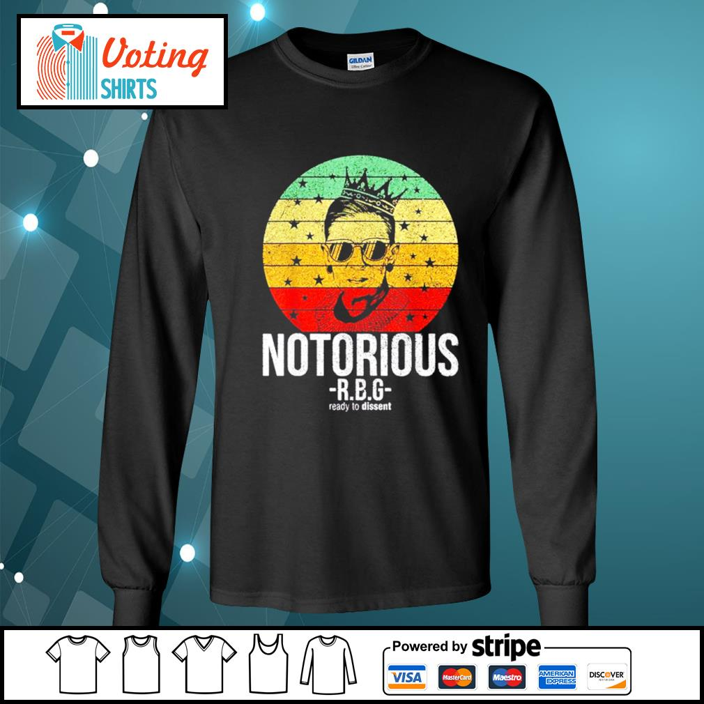 Ruth Bader Ginsburg notorious RBG ready to dissent vintage s longsleeve-tee