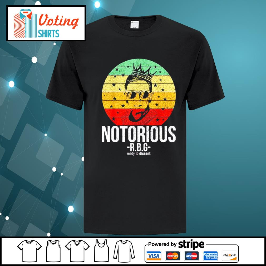 Ruth Bader Ginsburg notorious RBG ready to dissent vintage shirt