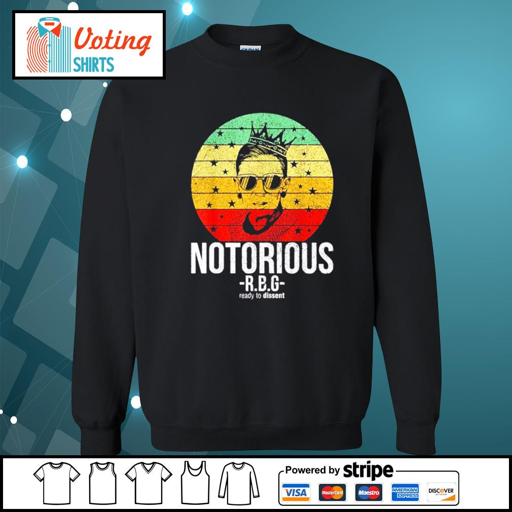 Ruth Bader Ginsburg notorious RBG ready to dissent vintage s sweater