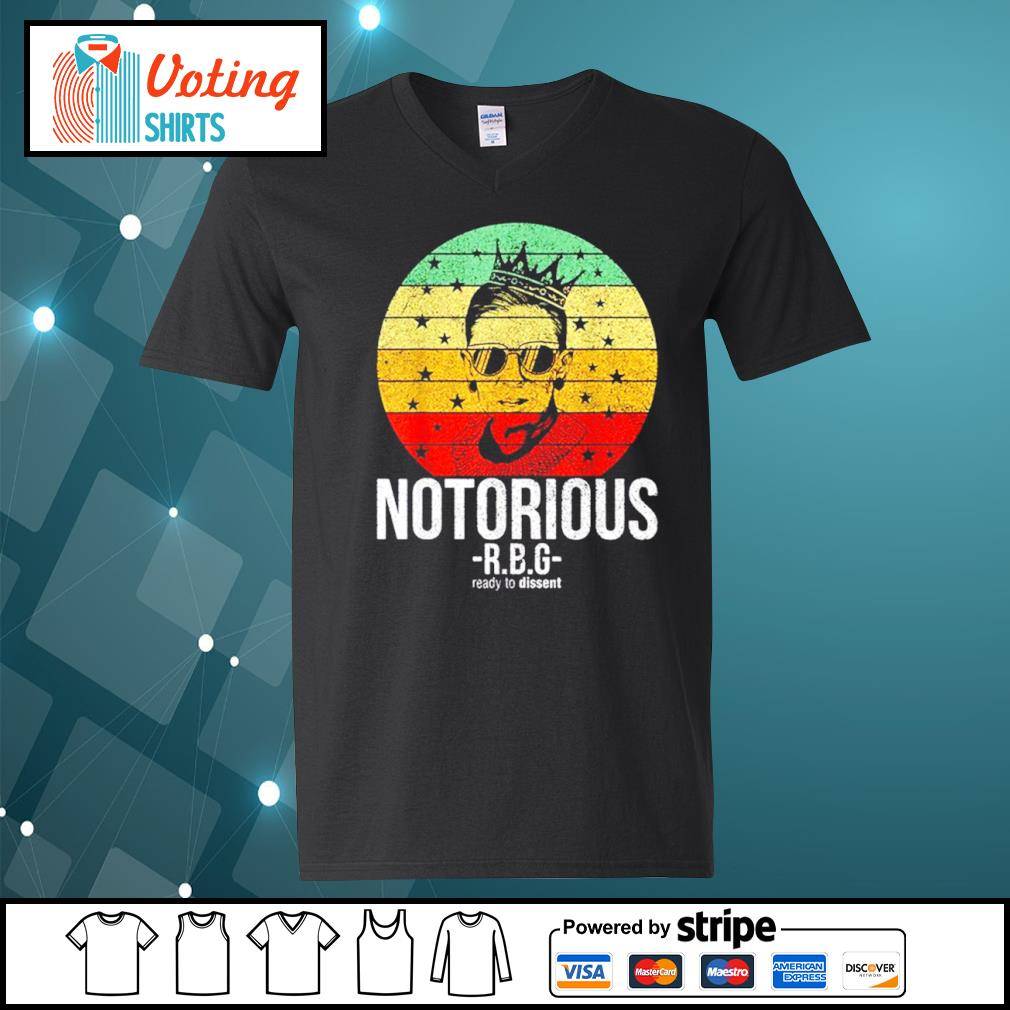 Ruth Bader Ginsburg notorious RBG ready to dissent vintage s v-neck-t-shirt