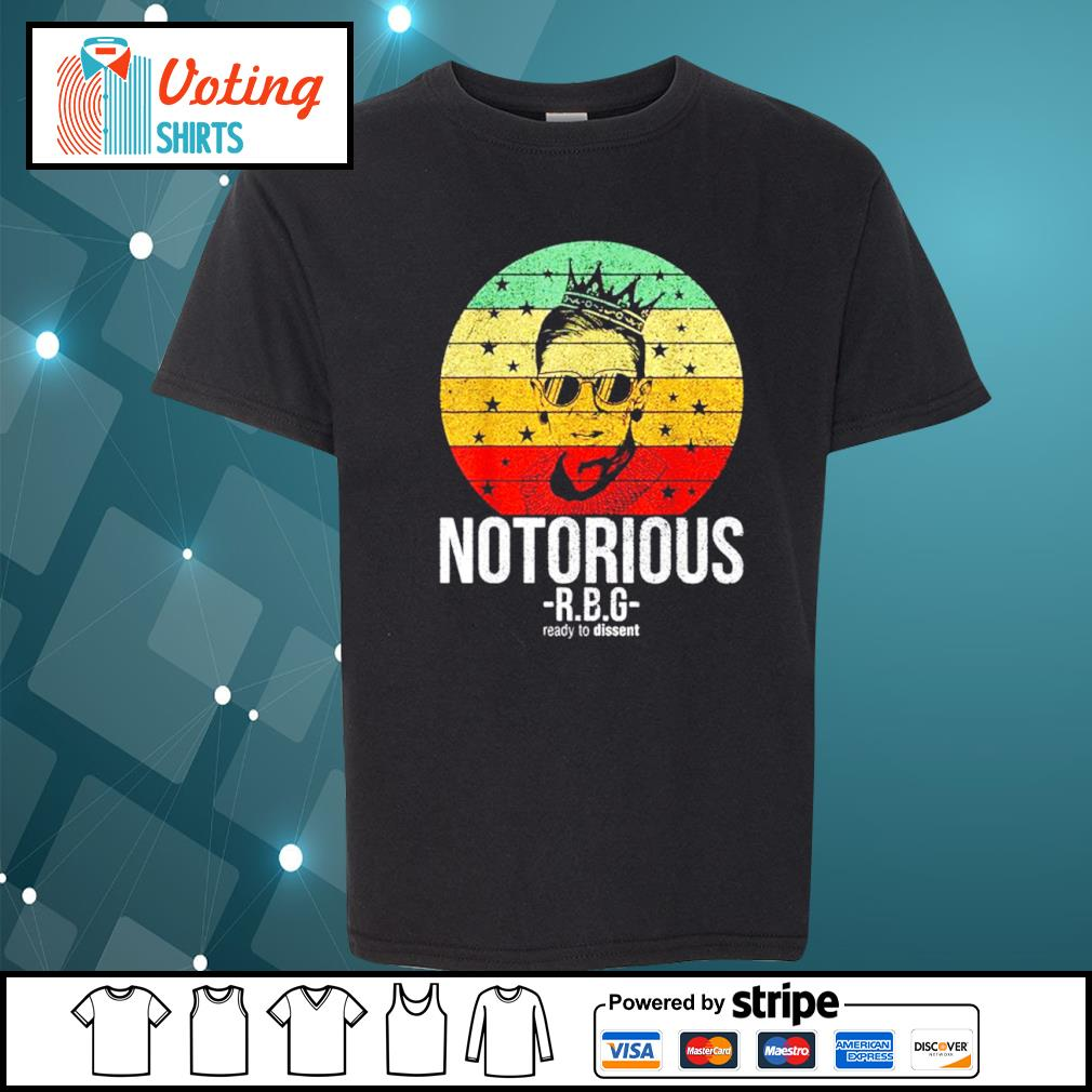 Ruth Bader Ginsburg notorious RBG ready to dissent vintage s youth-tee