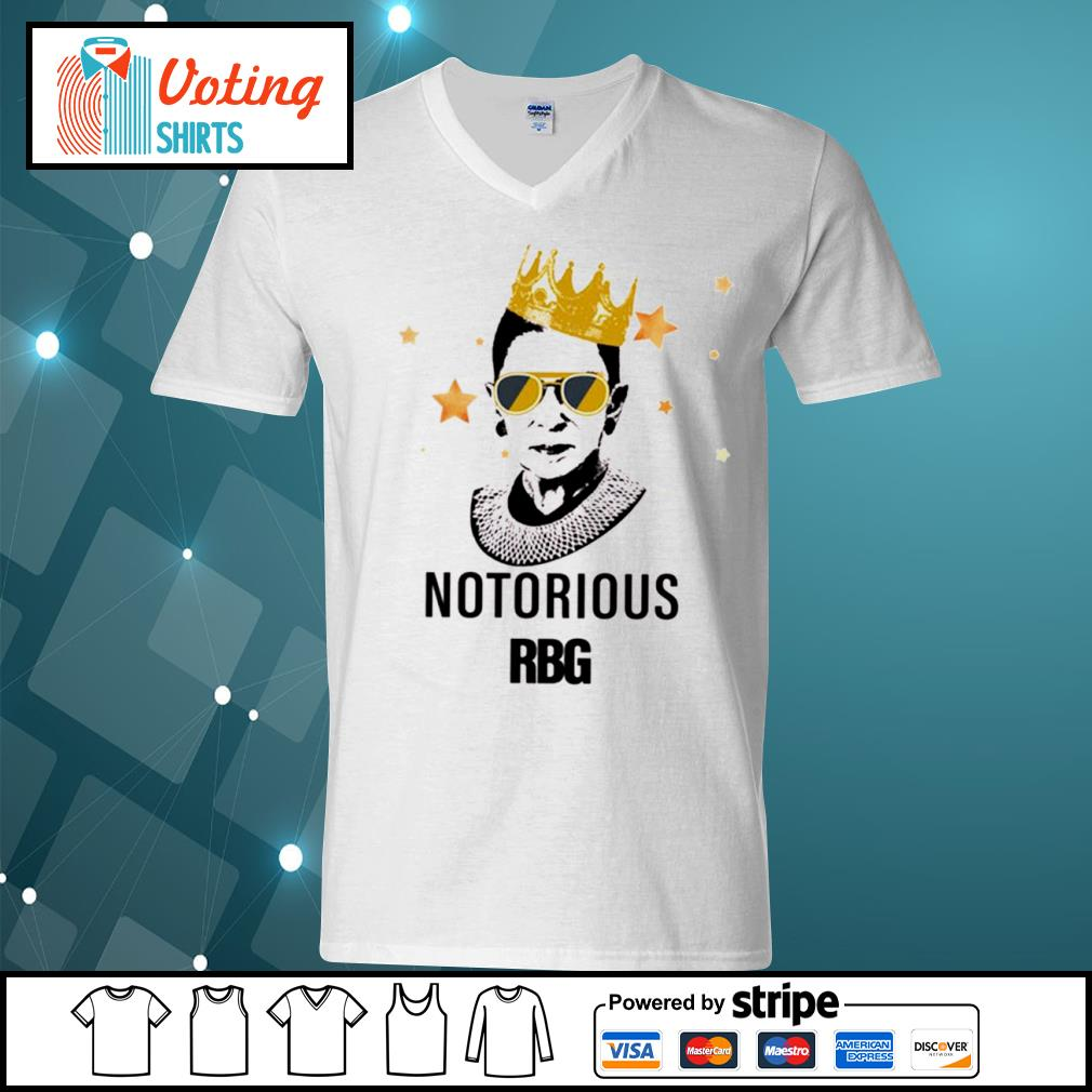 Ruth Bader Ginsburg queen notorious RBG s v-neck-t-shirt