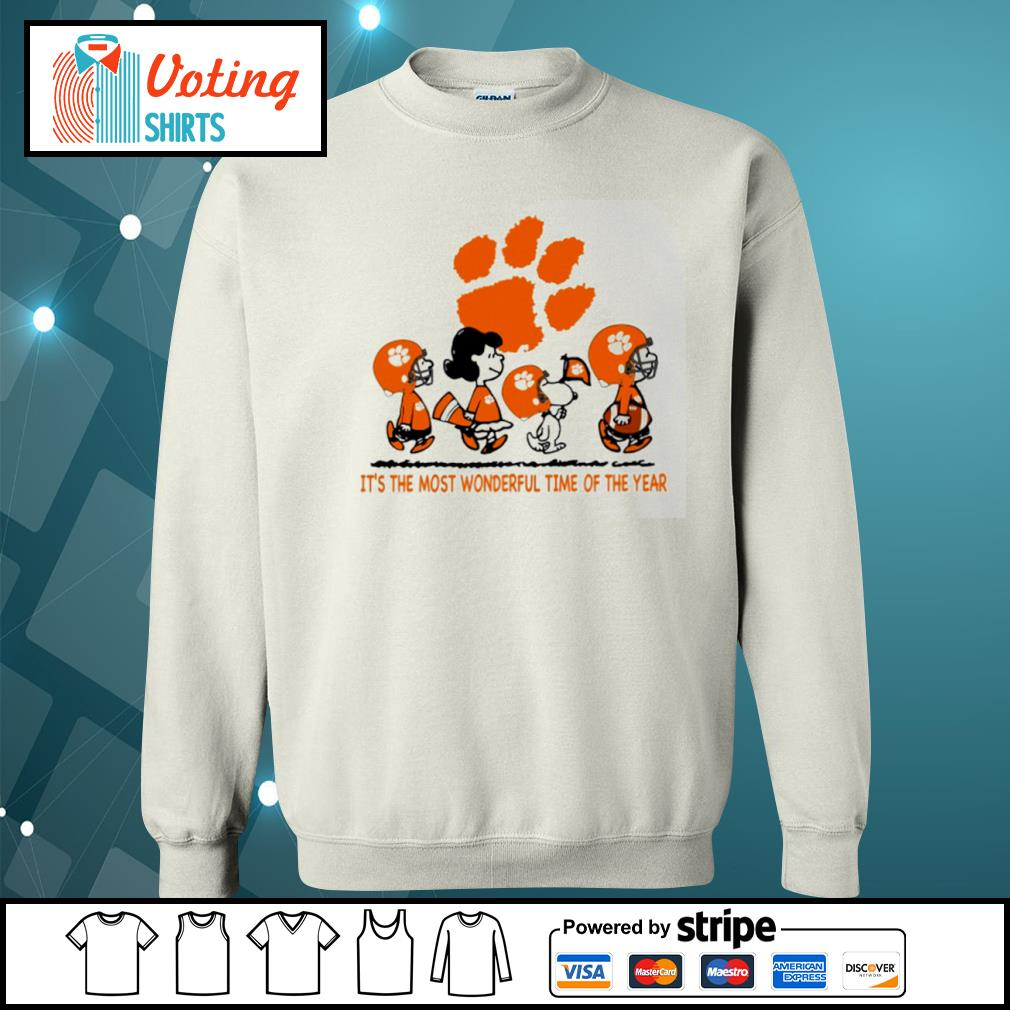Snoopy and friends Clemson Tigers it's the most wonderful time of the year s sweater