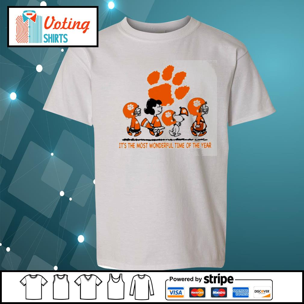 Snoopy and friends Clemson Tigers it's the most wonderful time of the year s youth-tee