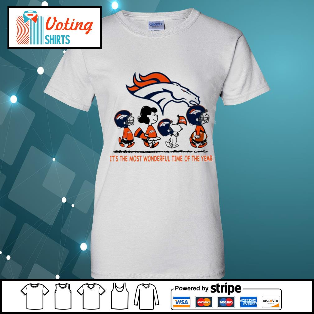 Snoopy and friends Denver Broncos it's the most wonderful time of the year s ladies-tee