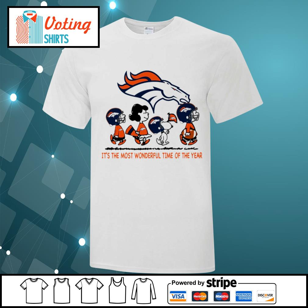 Snoopy and friends Denver Broncos it's the most wonderful time of the year shirt
