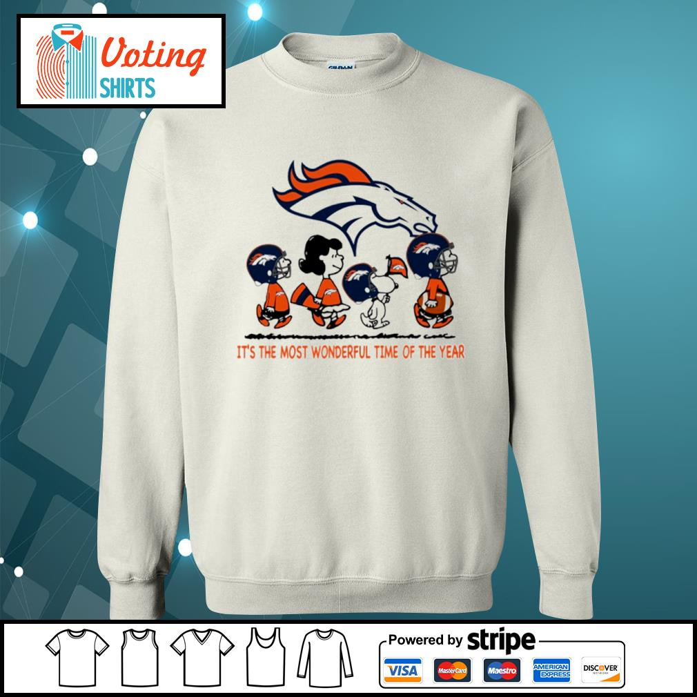 Snoopy and friends Denver Broncos it's the most wonderful time of the year s sweater
