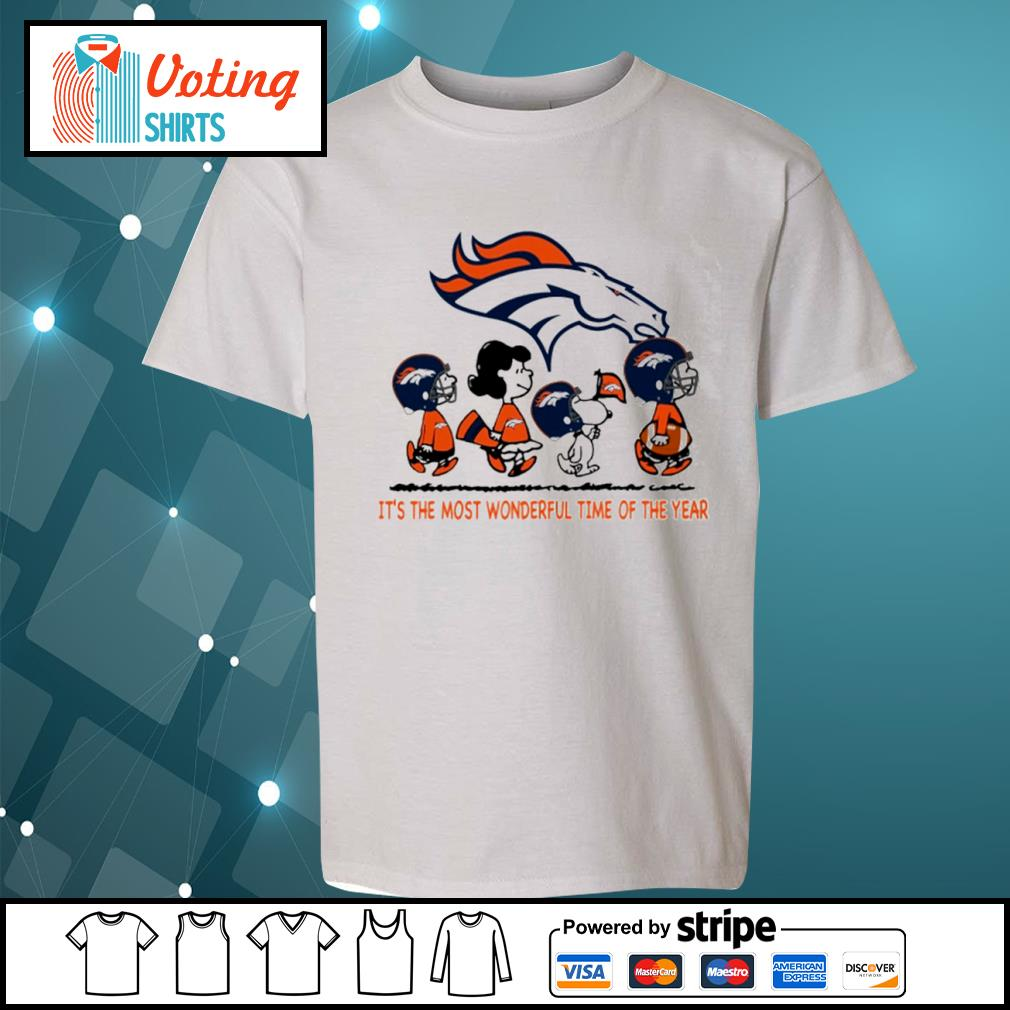 Snoopy and friends Denver Broncos it's the most wonderful time of the year s youth-tee