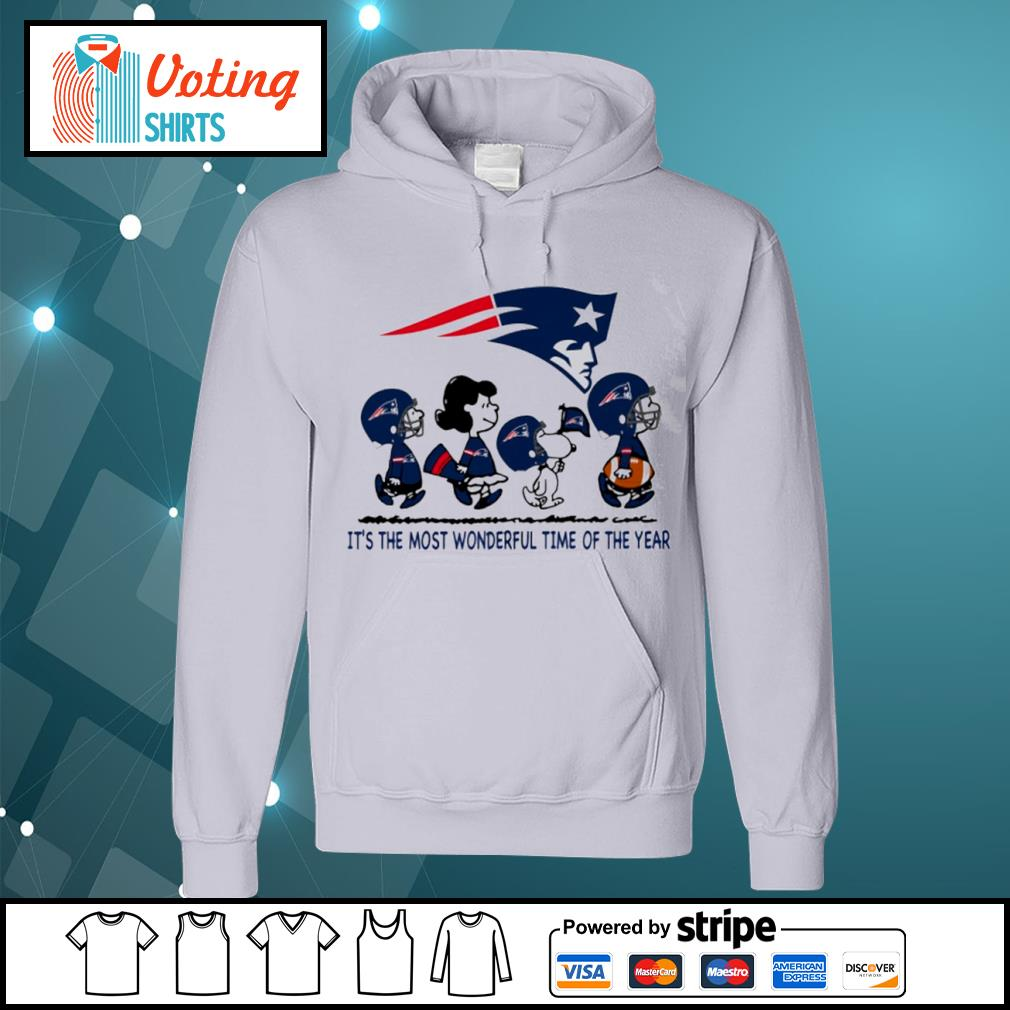 Snoopy and friends New England Patriots it's the most wonderful time of the year s hoodie