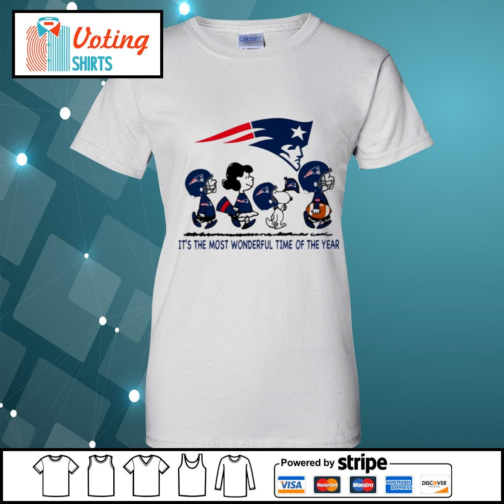 Snoopy and friends New England Patriots it's the most wonderful time of the year s ladies-tee